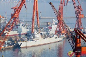 China Launched the 24th Type 052D, 6th Type 055 & 71st Type 056 Vessels for PLAN