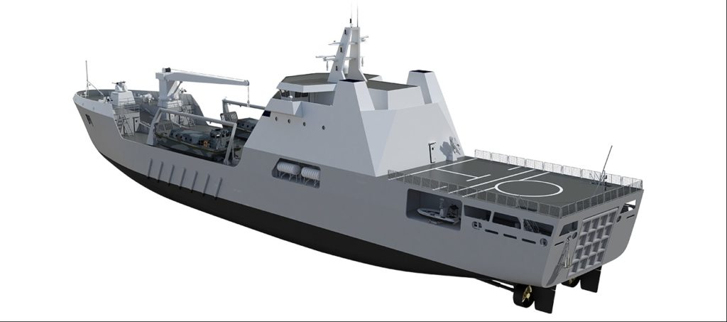 Damen laid keel of LST 100 large landing ship for Navy of