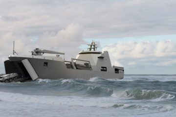 Damen laid keel of LST 100 large landing ship for Navy of Nigeria