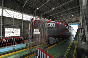 JMU Launched the third Awaji-class Minesweeper For JMSDF