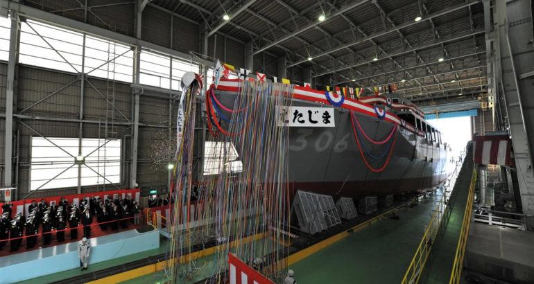 JMU Launched the third Awaji-class Minesweeper For JMSDF