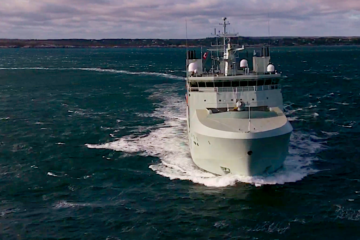 Royal Canadian Navy's first Harry DeWolf-class AOPS Completes Builder's Sea Trials