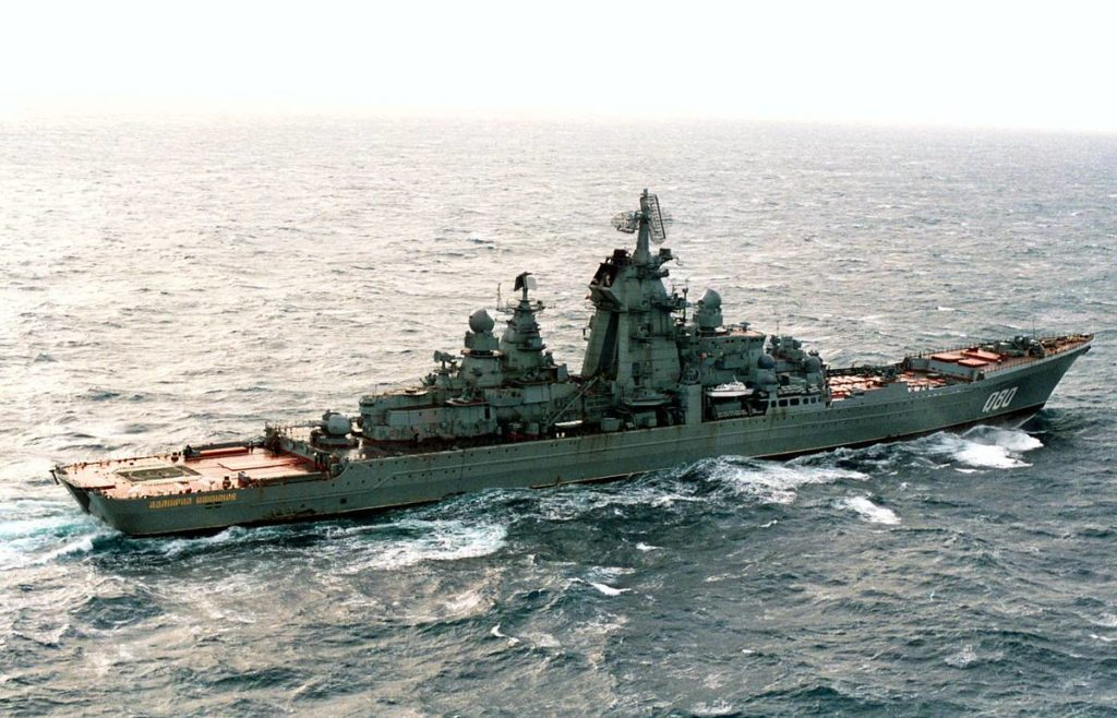 The Admiral Nakhimov before its modernization. Russian MoD picture.