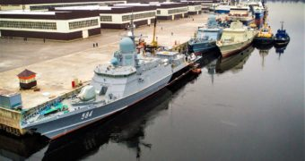 Russia's Project 22800 Corvette 'Odintsovo' Undergoing Dock Trials