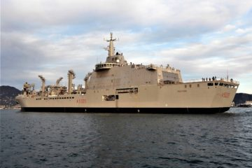 Italian Navy's Vulcano Logistic Support Ship Starts Sea Trials