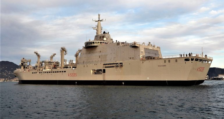 Vulcano A5335 Italian Navy's Vulcano Logistic Support Ship Starts Sea Trials 1