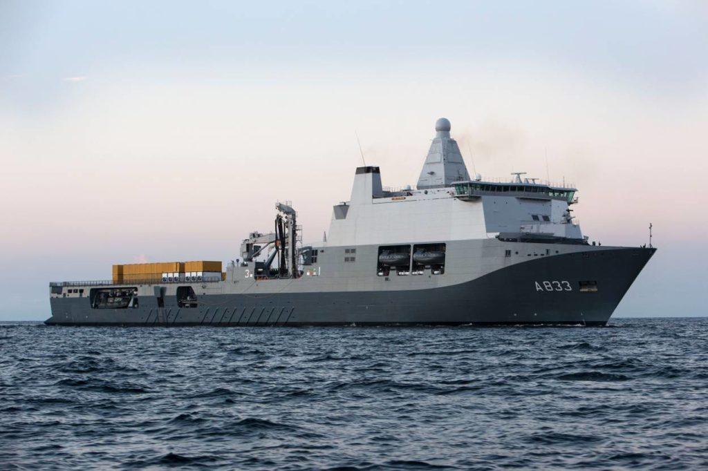 The Royal Netherlands Navy's HNLMS Karel Doorman