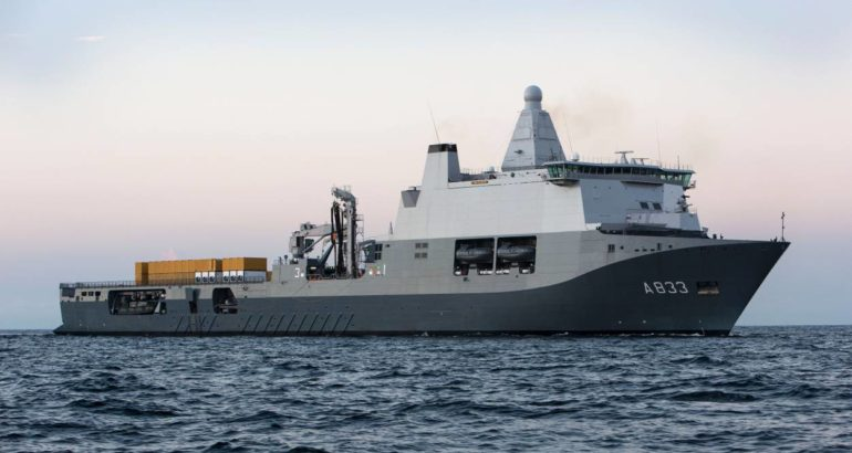 The Royal Netherlands Navy's HNLMS Karel Doorman