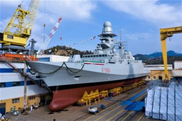 Fincantieri Launched the Italian Navy's Tenth and Final FREMM Frigate