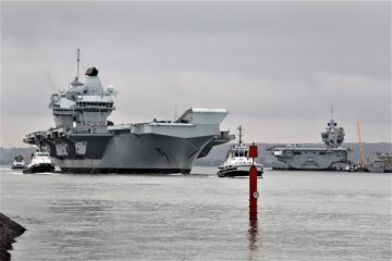 HMS Queen Elizabeth Set Sails for F-35B trials in UK waters