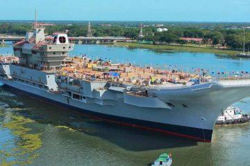 India's Defence Secretary Reviewed Progress on IAC INS Vikrant
