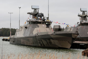 Patria delivers 1st modernized Hamina-class missile boat to Finnish Navy
