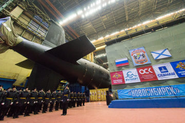 Yasen-M class SSGN 'Novosibirsk' launched by Sevmash Shipyard