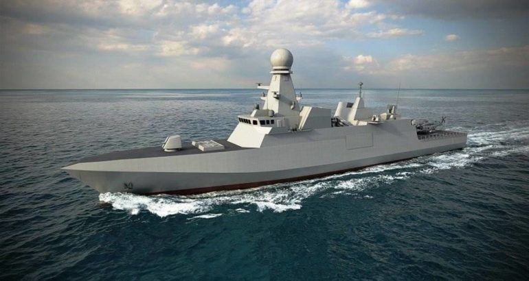 Fincantieri Launches Qatar's 1st Air Defense Corvette Al Zubarah
