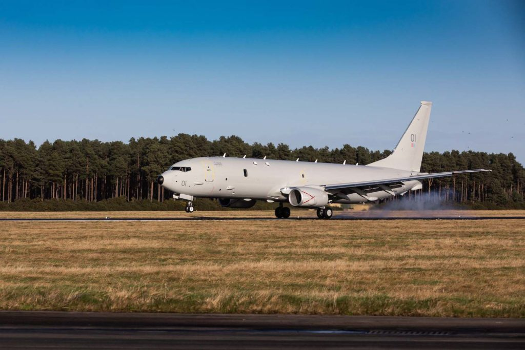 The RAF's new submarine-hunting Poseidon Maritime Patrol Aircraft (MPA) has touched down for the first time in the UK. The aircraft is the first of a new £3 billion programme, including the purchase of nine state-of-the-art Poseidon jets, which will improve the UK's ability to track hostile targets below and above the waves.