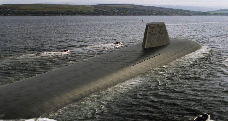 An artist rendering of future Dreadnought -class submarine.