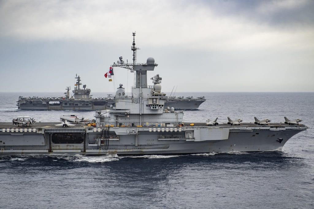 Dual Carrier OPS between aircraft carriers Charles de Gaulle and USS Eisenhower