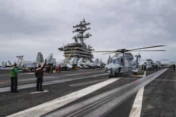 Pictures: U.S. Navy and French Navy Aircraft in Cross-Deck Inter-operability Exercise
