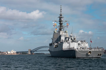 Australia's Third & Final Air Warfare Destroyer Arrives in Sydney