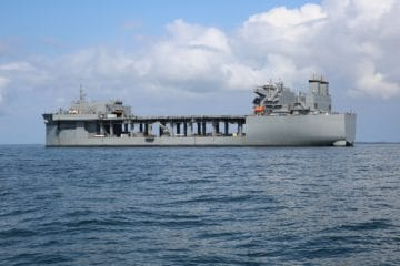Expeditionary Sea Base USS Hershel 'Woody' Williams Commissioned into U.S. Navy