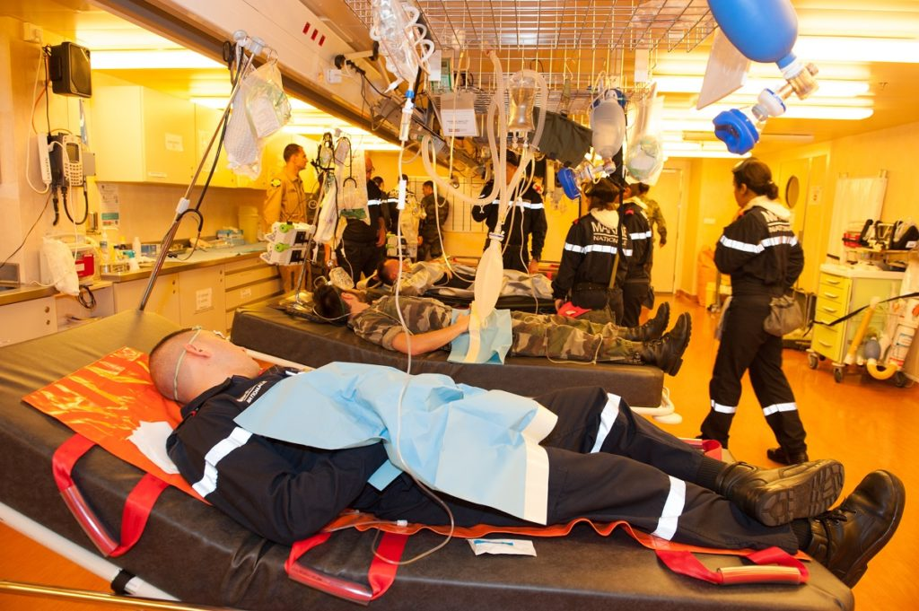 Hospital facilities aboard Mistral-class LHD Tonnerre