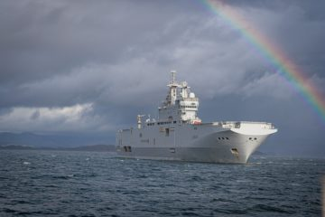 French Navy LHD 'Tonnerre' heads for the Gulf of Guinea
