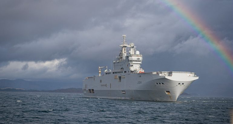 "The Mistral-class LHD ""Tonnerre"". French Navy"