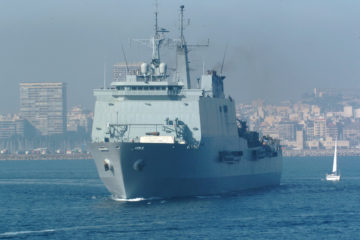 Spanish Navy's LPD Galicia Tasked with Covid-19 Relief Mission