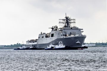 HII Launched the Future USS Fort Lauderdale (LPD 28)