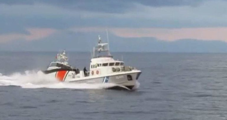 Hellenic Coast Guard and Turkish Coast Guard patrol boats in the Agean Sea