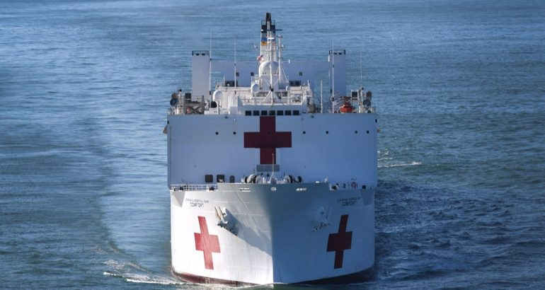 Hospital ship USNS Comfort T-AH-20