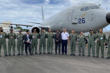 Indian Navy P-8I MPA in Reunion Island for Combined Training with French Forces