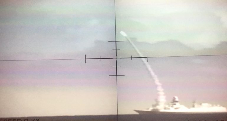 Italian Navy FREMM frigate ITS Martinengo Test Launches ASTER 30 Missile
