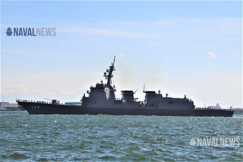 JMSDF AEGIS Destroyer JS Maya, during her commissioning