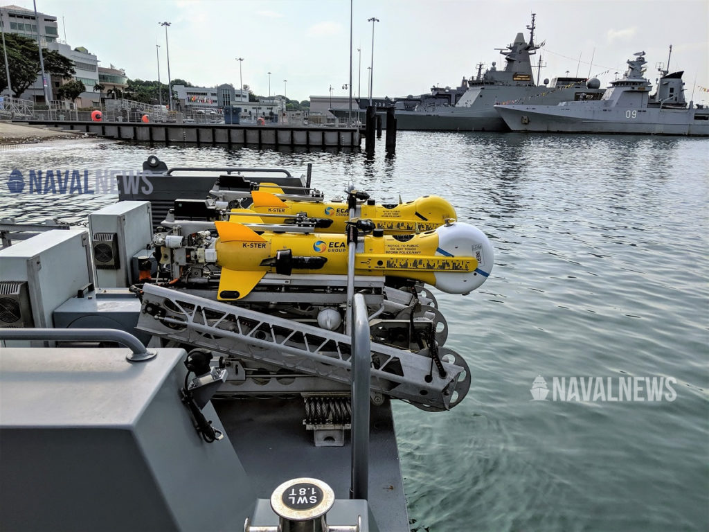 K-STER aboard a Republic of Singapore Navy USV during IMDEX Asia 2019
