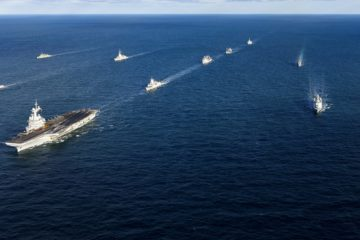 NATO forces exercise with French carrier strike group