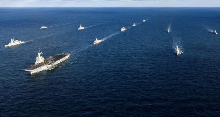 NATO forces exercise with French carrier strike group 1