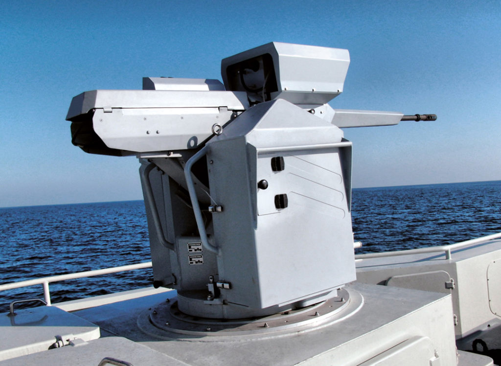 The Narwhal is a 20mm naval remote weapon station.