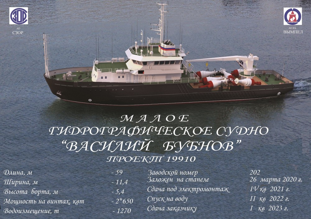 Russian shipyard lays down Project 19910 hydrographic vessel 2