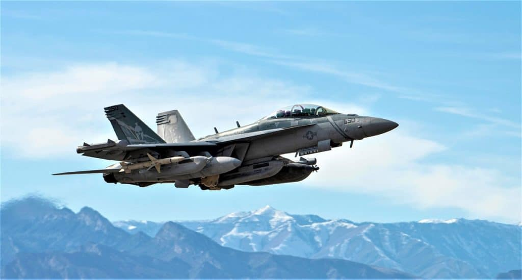U.S. Navy EA-18G Growler aircraft assigned to Electronic Attack Squadron (VAQ) 131