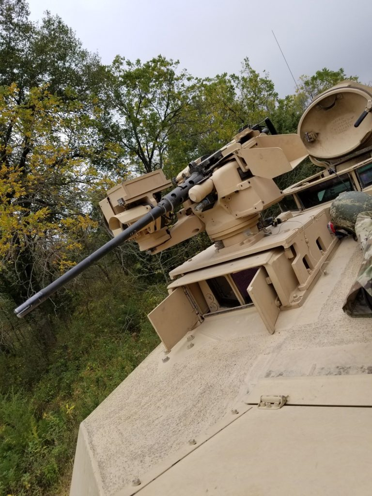 Low-Profile CROWS RWS with 12.7 M2 on the M1A2 SEP V3's Tank Commander's station.