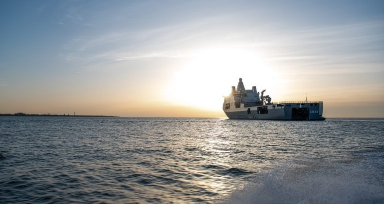 Dutch JSS Karel Doorman Set Sails to the Caribbean for COVID-19 Relief Mission