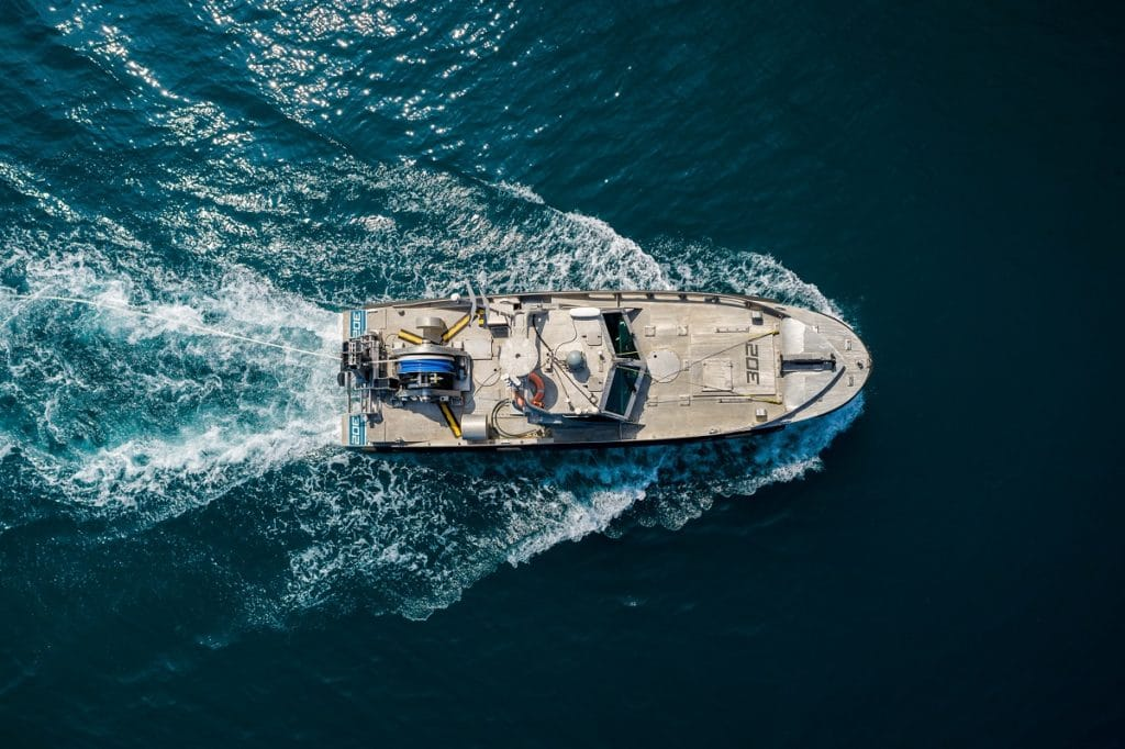 Elbit Systems Seagull USV with TRAPS-USV integrated