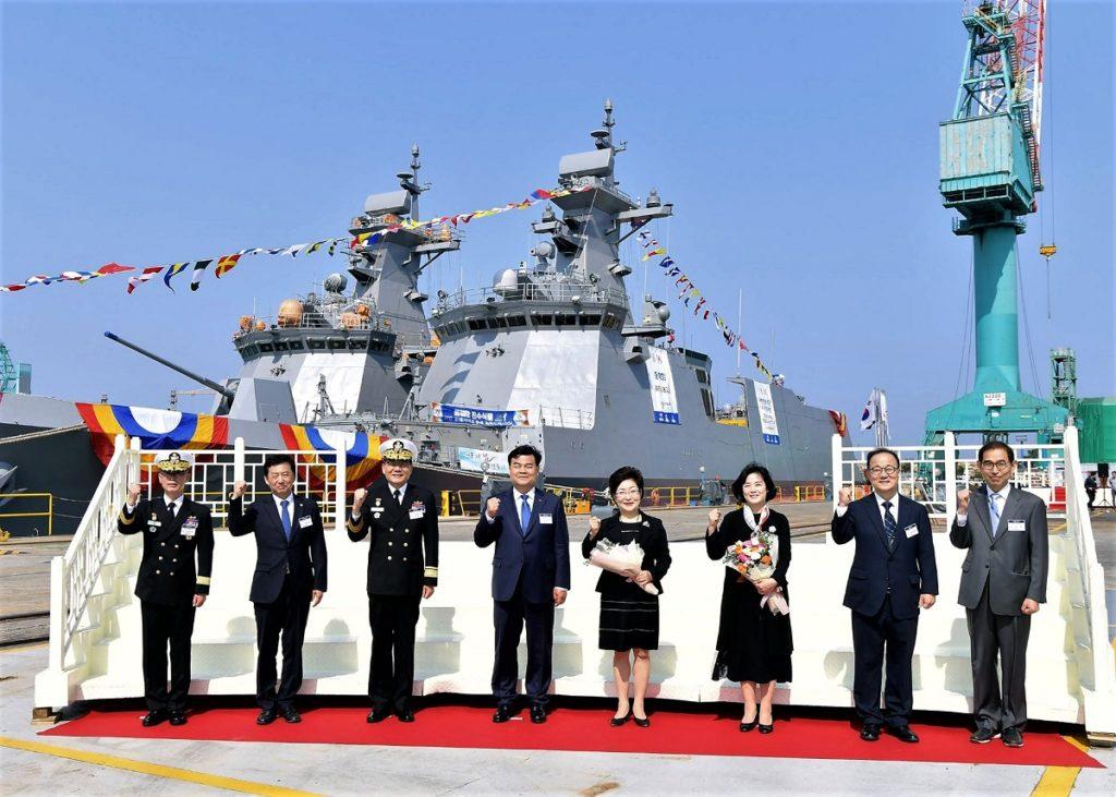 HHI Launches Fourth Daegu-class FFX Batch II frigate for ROK Navy