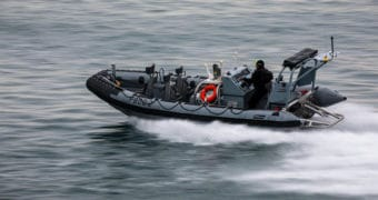 NATO delivers the first 4 of 24 Zodiac Milpro RHIBs to the Spanish Navy
