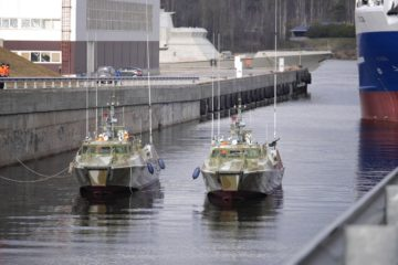 Pella Shipyard launched 15th & 16th Raptor-class patrol boat for Russian Navy