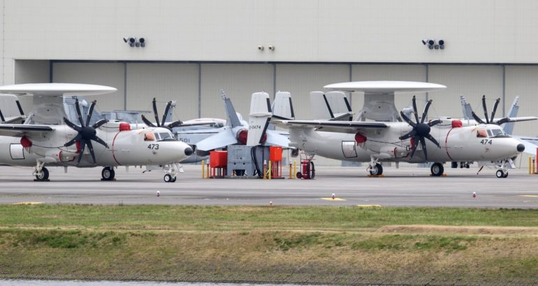 Two more E-2D Advanced Hawkeye delivered to Japan 1