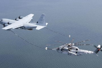 USMC's CH-53K heavy lift helo completes first air refueling test