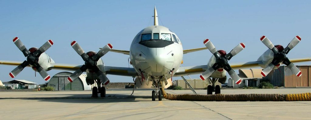 P3c orion on airfield for mission Atalanta