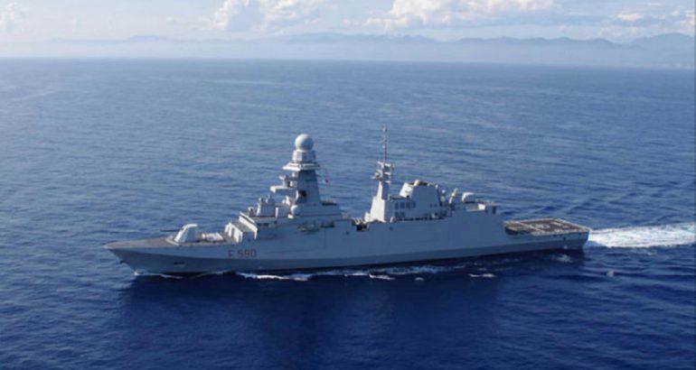 "Italian Navy's frigate ""Carlo Bergamini"" . Italian Navy picture."